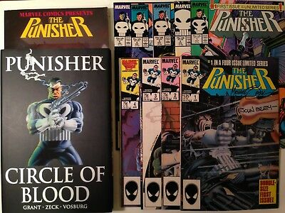Punisher 1 original and HC SIGNED Zeck and Beatty and # 1 (1st series) +more Lot