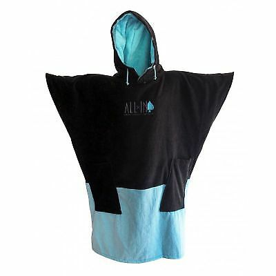 Poncho All In V Black Turquoise