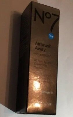 No7 Airbrush Away Foundation all skin types coverage medium 30 ml /choose Shade