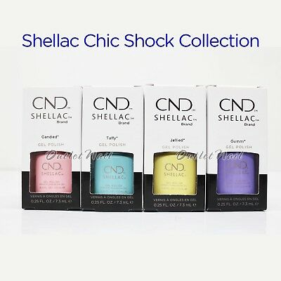 CND Shellac 2018 Chic Shock Collection UV Gel Nail Polish Color 7.3ml 0.25oz