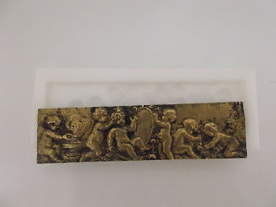 Silicone Rubber Mould Antique Art Nouveau Cherub Frieze Cake Arts Crafts