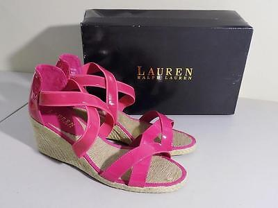 Ralph Lauren Women's Courtney Espadrilles Wedge Pink NIB Size 9 B MSRP $69.00