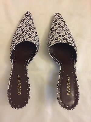 7ee20ad8b8 BCBG GIRLS Shoes - Canvas Pointy Toe Slides Kitten heels Size 71 2 Great  Condi