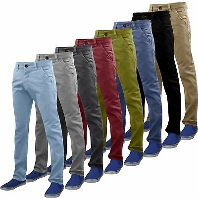 40514548b1 Mens Slim Fit Stretch Chino Trousers Casual Jeans WestAce Cotton Designer  Pant
