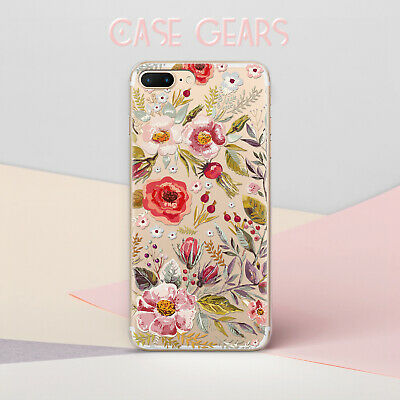 Spring Floral iPhone XS TPU Silicone Case Flower iPhone 7 Plus Cover 6 Plus Case