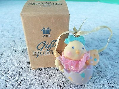 "Avon Gift Collection Springtime Cuties Easter Ornament-""Chick"" With Box"