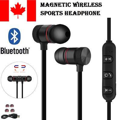 Wireless Bluetooth 4.1 Stereo Magnetic Sports Earphone Earbuds Headphone Headset