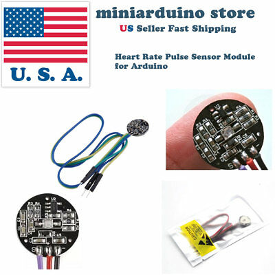 Pulse Sensor Heart Rate Sensor Monitor PulseSensor for Arduino Module Raspberry