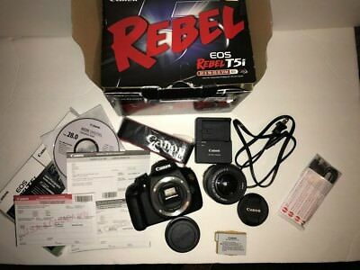 New Canon EOS rebel T5 Digital SLR 18.0MP Camera + EF-S 18-55 mm Lens Kit Bundle