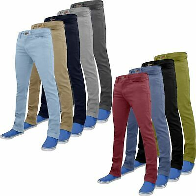 New Mens Designer WestAce Chino Slim fit Skinny Stretch Trousers Bottoms Jeans