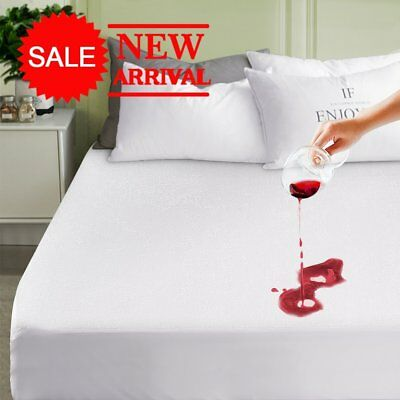 Terry Towel Waterproof King Size Mattress Protector Fitted Sheet Bed Cover