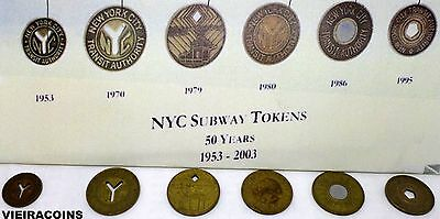 1953-2003 : 50th Years New York City Subway Tokens, complete set -#10351