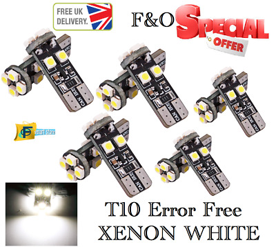 Upto 10X 8Smd Led 3528 T10 W5W Canbus Wedge Capless Xenon White Side Light Bulb