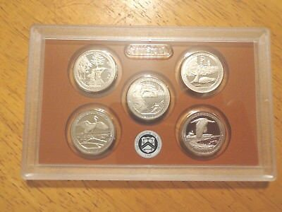 2018 S Clad Proof America The Beautiful Quarter Set  No Box or Coa