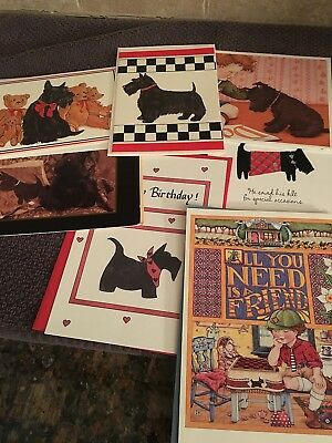 Scottie Dog Greeting cards/ 7 Cards with envelopes Lot #1