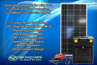 Portable Solar Generator 2000w 100Ah AGM Battery 200w Solar Panel