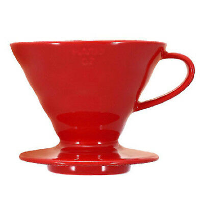 HARIO V60 02 Cup Ceramic Pour Over Coffee Dripper Cone Filter Brewer Red