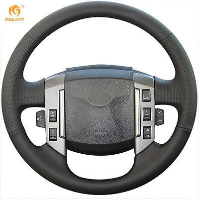 Genuine Leather Steering Wheel Cover for Land Rover Discovery 3 2004-2009 #LR15