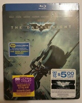 The Dark Knight Steelbook Best Buy Exclusive (Blu-ray, 2012) NEW SEALED RARE