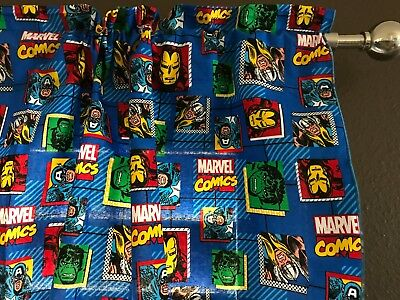 "Homemade Window Valance 100% Avengers Marvel Comics Print 42"" Wide"