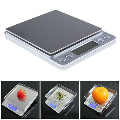 EP_ 3kg/0.1g 500g/0.01g Stainless Digital LCD Kitchen Jewelry Electronic Scale E