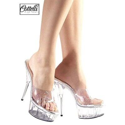 SHOES HIGH COURT TRANSPARENT SYDNEY Size 42 COTTELLI COLLECTION