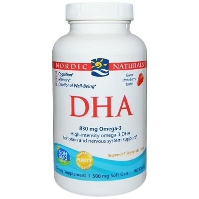 Nordic Naturals Dha Omega 3 Cognition Memory Emotional Well-Being 180 X Softgels