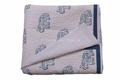 Indian Block Print Baby Quilts Boho Kids Bedding Cotton Blanket Nursery Bedding