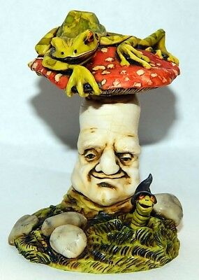 Harmony Kingdom Artst Neil Eyre Designs frog toad magic worm mushroom LE 50