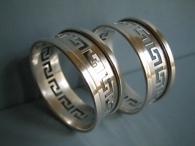 2 Serviettenringe Paar  Sterling Silber  Pair Of Napkin Rings  Birmingham 1930
