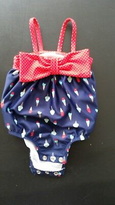 3 To 6 Months Girls Swimsuit. Onepiece.