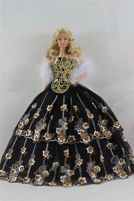 Fashion Handmade Princess Dress Wedding Clothes Gown for Barbie Doll D50
