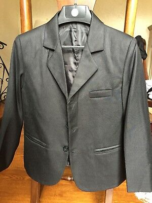 Boys Size 8 Black Three Piece Suit