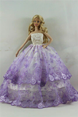 Fashion Handmade Princess Dress Wedding Clothes Gown for Barbie Doll D54