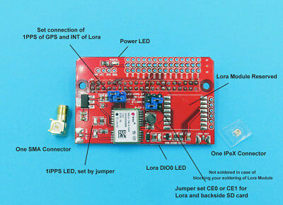 GPS Lora Shield for Raspberry Pi
