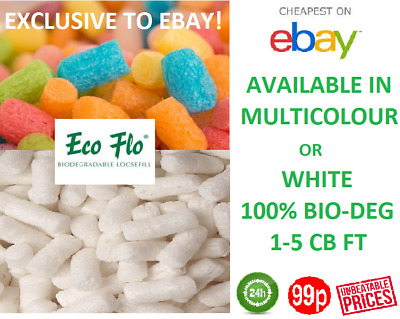 packing peanuts void fill loose fill WHITE/MULTICOLOUR ECOFLO 100% Bio 24HR DEL
