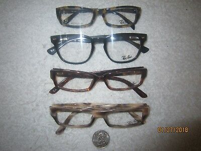 4 Ray-Ban DEMO clear glasses vintage college WOMENS MENS hollywood READY office