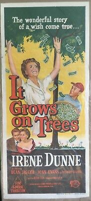 It Grows on Trees, Movie Poster, 1952, Irene Dunne, Dean Jagger, 14 x 36