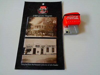 (2) Coca Cola Advertising Magnets  1995-96