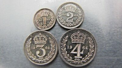 Great Britain Maundy set 1964 (4 coins) lovely toned Proof