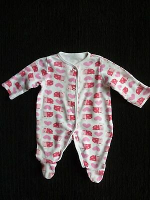 Baby clothes GIRL premature/tiny<7.5lb/3.4k ladybird/hearts babygrow SEE SHOP!