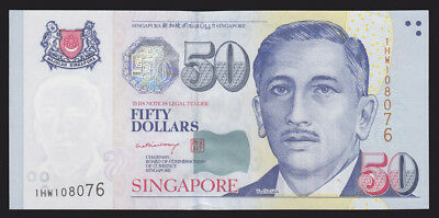 Singapore ND 1999 Fifty 50 Dollars P 41b SCARCE sig. CU UNC Currency Bank Note