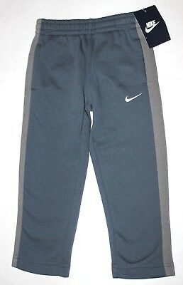 Toddler Boys 3T or 4T Nike Sweat pants athletic Gray sweatpants w stripe NEW $38