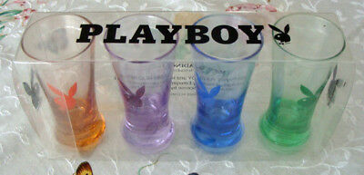 Vintage Playboy Bunny Collector's 4 Pack Glasses!