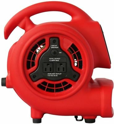 XPOWER Mini 600 CFM Blower Fan With Daisy Chain and amp; 3-Hour Timer New
