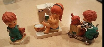 Lot of 3 Goebel Redhead Figurines-Gangway/The Roving Eye/At Work