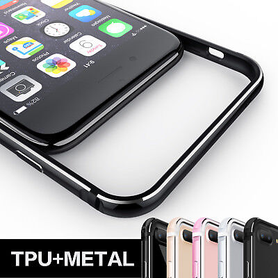 Slim Aluminum Metal Frame Soft Silicone Side Cover For iPhone6 6s 7 Plus 8 Plus