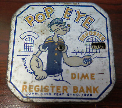 Vintage 1929 Popeye Dime Bank by King Feat Synd