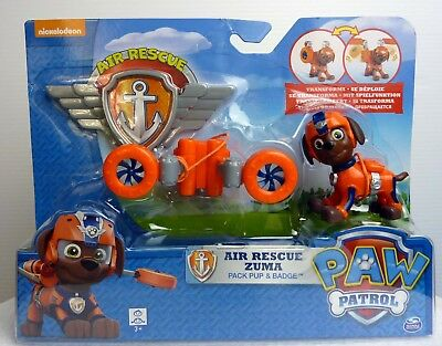 Paw Patrol New Action Pack Pup & Badge Air Rescue Zuma  Age 3+ AU Stock