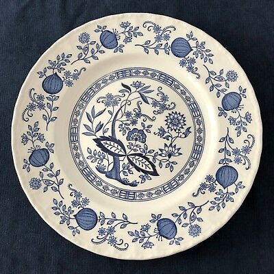 Wedgwood Blue Heritage Dinner Plate Blue Onion Pattern Vintage Made in England